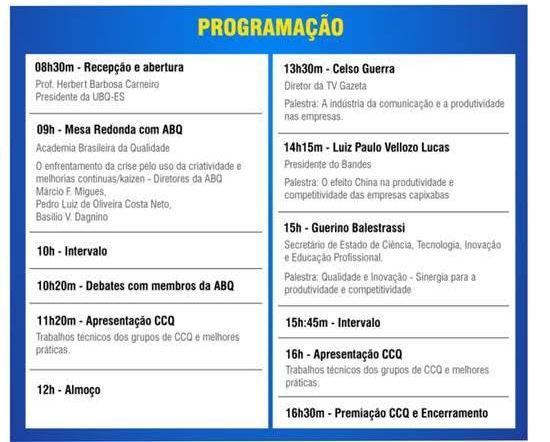Workshop Tecnologia e Gestão - programação