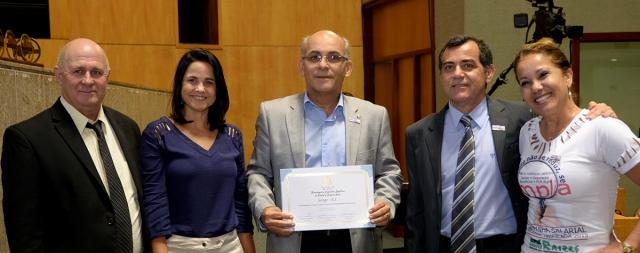 O diretor de promoção social do Senge-ES, Luis Fernando Fiorotti, representou o Senge-ES na solenidade de 60 anos do Dieese