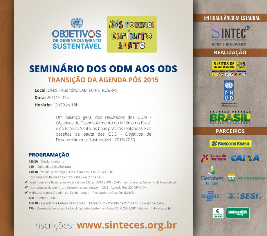 Seminário DOS ODM aos ODS - dentro